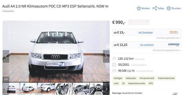 6 bin liraya Audi