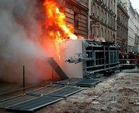 Fransa'da çok sert polis müdahalesi