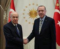 Erdoğan-Bahçeli zirvesi sona erdi
