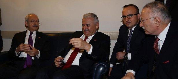 Başbakan ile Kılıçdaroğlu arasında sürpriz görüşme
