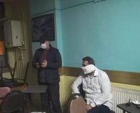 Yakalanınca tuyalet kağıdını maske yaptı