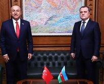 Bakan Çavuşoğlu, Bayramov'la görüştü