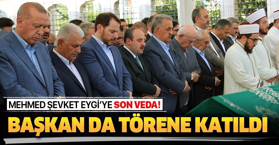Son dakika: Mehmed Şevket Eygi son yolculuğuna uğurlandı! Başkan Erdoğan da törene katıldı