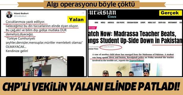 CHP'li vekilin algı operasyonu deşifre oldu!