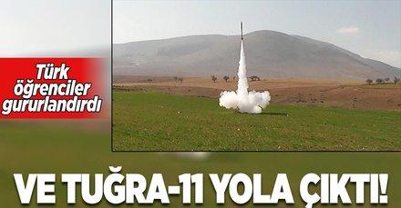 Türk öğrencilerin yaptığı Tuğra-11 yola çıktı