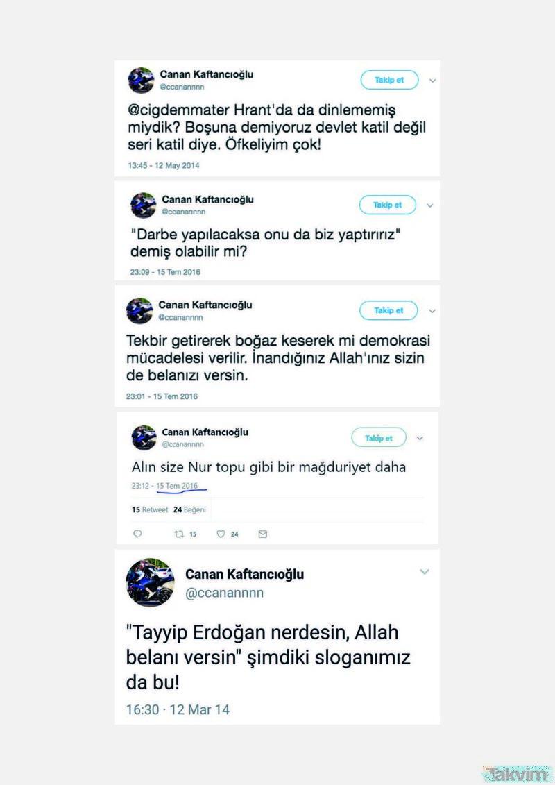 İslam düşmanlığı, küfür, hakaret, aşağılama, terör destekçiliği! İşte CHP'nin teslim edildiği eşbaşkan Canan Kaftancıoğlu