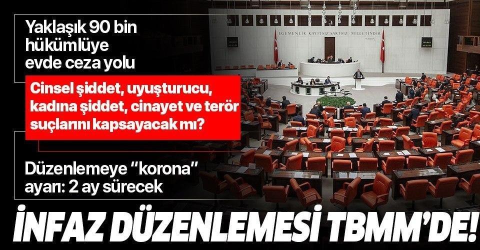 Son dakika: İnfaz düzenlemesi TBMM'de! İnfaz düzenlemesinden kimler yararlanıyor? AK Parti'den flaş açıklamalar...