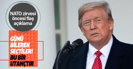 Trump NATO zirvesine giderken Demokratlara yüklendi