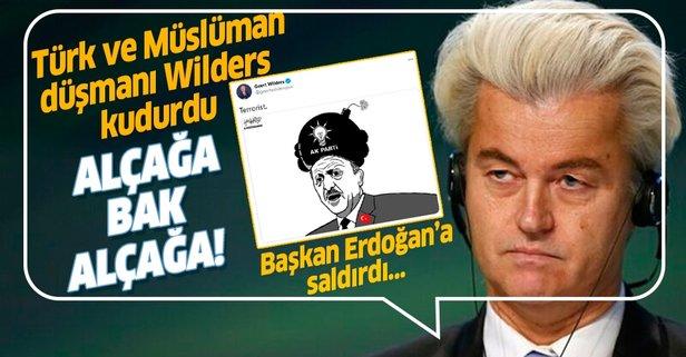 Türk ve Müslüman düşmanı Wilders'ten skandal paylaşım