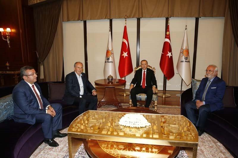 Erdoğan-Muharrem İnceyi kabul etti!