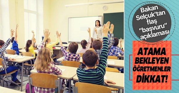 Sözleşmeli öğretmen başvurularında flaş!