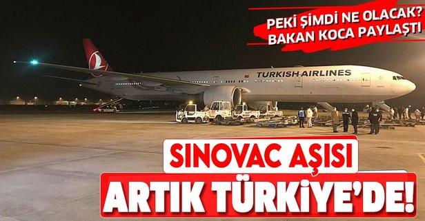 SinoVac aşıları Ankara'ya ulaştı