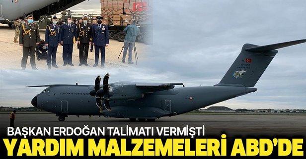Türkiye'nin yardım malzemeleri ABD'ye ulaştı