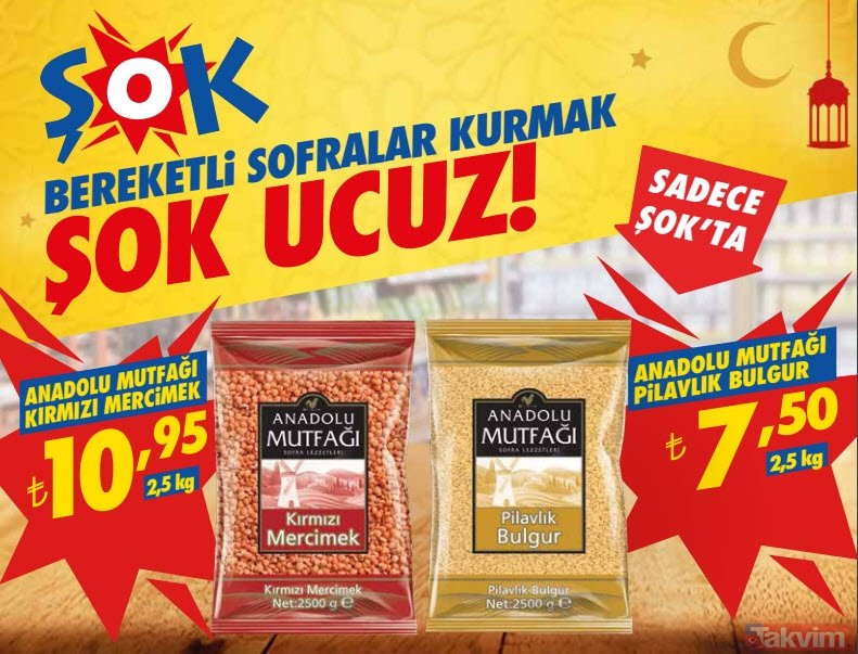 ŞOK aktüel ürünler kataloğu: 1-7 Mayıs ŞOK market indirimlerinde Ramazan sürprizi
