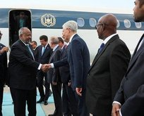 Cumhurbaşkanlığı geçiş törenine 'Rabia' ile geldi