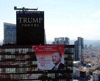 Trump Towersta Başkan Erdoğanın posteri