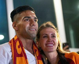 Galatasaray'ın yeni transferi Radamel Falcao ile ilgili şaşırtan gerçek! Falcao'nun eşi Lorelei Taron...