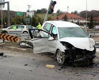 Bolu'da feci kaza! Gözyaşlarına boğuldular