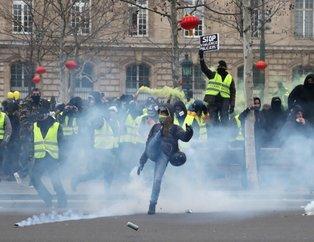 Sarı Yelekliler yeniden sokaklarda! Polis sert müdahalede bulundu