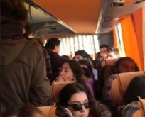 Yolcu otobüsünde ücret tartışması!