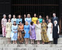 Liderler G20'de onlar gezmede! Eşler toplantısında tek erkek...