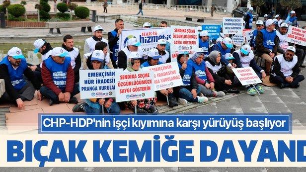 CHP-HDP'nin işçi kıyımına karşı yürüyüş başlıyor ile ilgili görsel sonucu