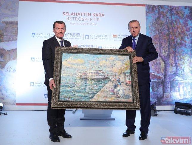 Başkan Recep Tayyip Erdoğan 'Selahattin Kara Resim Sergisi'nin açılışına katıldı