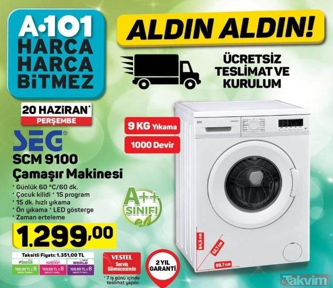 20 Haziran 2019 A101 market indirimli ürünler hangileri açıklandı! A101 aktüel ürünler kataloğu yayınlandı LED TV sürprizi...