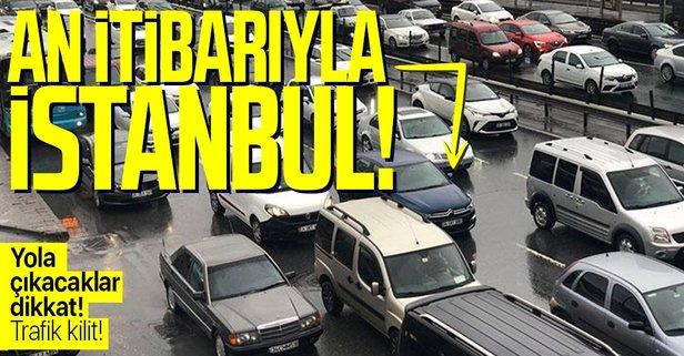 İstanbul'da trafik kilit! Yoğunluk yüzde 70'lere çıktı!