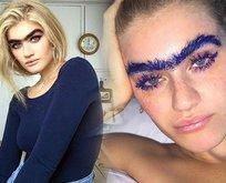 Ünlü model Sophia Hadjipantelinin kaşları hayrete düşürüyor