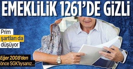 Erken emekliğe 1261 formülü