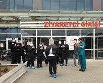 Koronavirüs hastası alkışlarla taburcu edildi