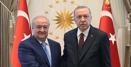 Başkan Erdoğan, Özbekistan Dışişleri Bakanı Abdulaziz Kamilov'u kabul etti