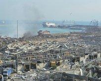 Beyrut'taki patlamada İstanbul Boğazı detayı
