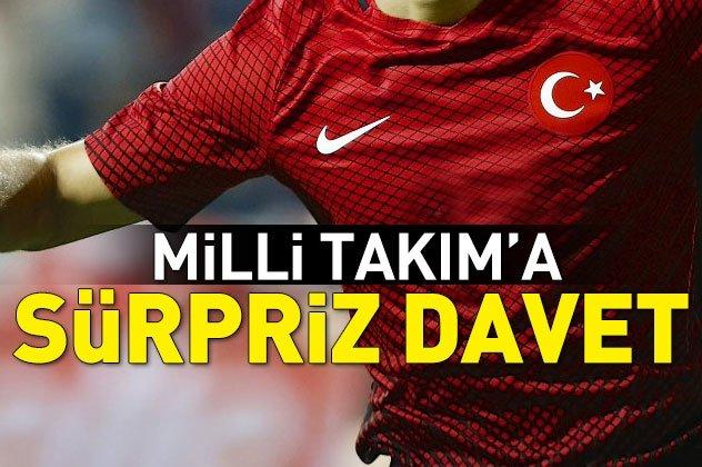 A Milli Futbol Takımının aday kadrosuna sürpriz davet