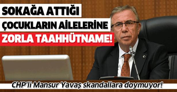 CHP'li Mansur Yavaş skandallara doymuyor! Sokağa attığı çocukların ailelerine...