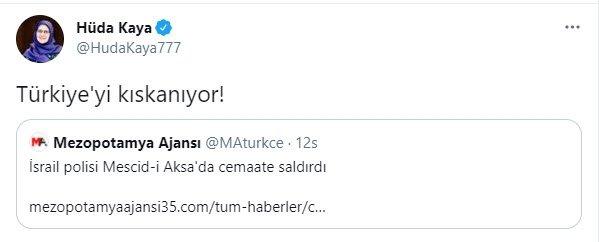 SON DAKİKA: HDP İstanbul Milletvekili Hüda Kaya İsrail'in Filistin'e  düzenlediği saldırı üzerinden Türkiye'ye hakaret etti - Takvim