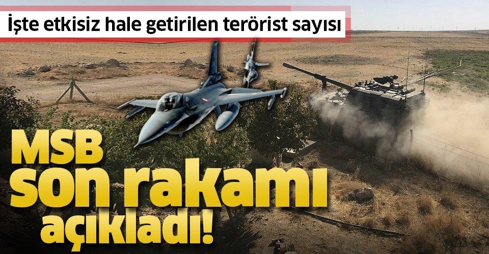 Son dakika: MSB son rakamı açıkladı! İşte Barış Pınarı Harekatı'nda etkisiz hale getirilen terörist sayısı