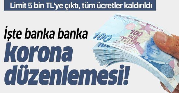 Bankalardan koronavirüs düzenlemesi! Limit 5 bin TL'ye çıktı, tüm ücretler  kaldırıldı! İşte banka banka yeni düzenlemeler! - Takvim