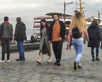Eminönü'nde turist yoğunluğu! Sokaklar onlara kaldı