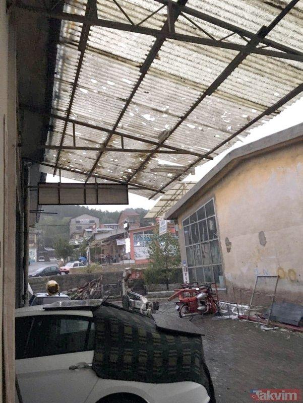 Kastamonuyu dolu yağışı vurdu! 370 araç ve 90 evde hasar var