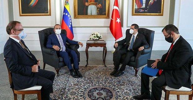 Bakan Çavuşoğlu'ndan Venezuela'da krtik ziyaret