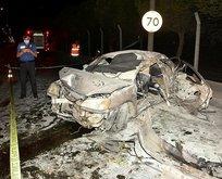 İzmir'de gece yarısı korkunç kaza!