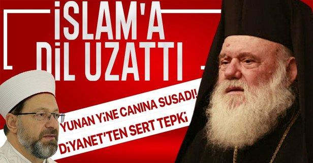 Yunan Başpiskoposu: İslam bir din değil!
