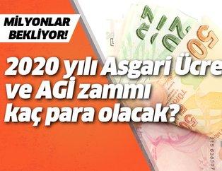 2020 yılında Asgari Ücret ve AGİ ne kadar olacak? İşte hesaplama