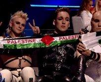 Eurovision'da 'Filistin' protestosu