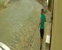 Mahalleliden kaçan hırsız bakın nereye sığındı!