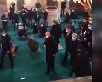 Ayasofya Camii'nde tekbirlerle karşılandı
