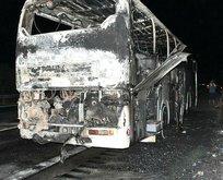 İzmir'de seyir halindeki otobüste yangın çıktı