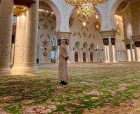 Dünyaca ünlü futbolcu camide 'Eşsiz bir yer'